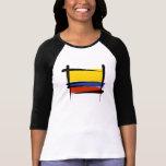 Bandera del cepillo de Colombia Camisetas