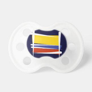 Bandera del cepillo de Colombia Chupete De Bebé