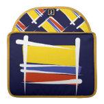 Bandera del cepillo de Colombia Fundas Para Macbook Pro