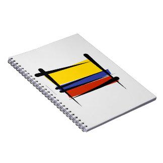 Bandera del cepillo de Colombia Libros De Apuntes Con Espiral