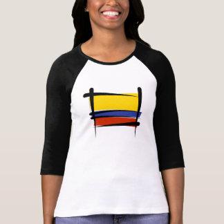 Bandera del cepillo de Colombia Playera