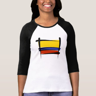 Bandera del cepillo de Colombia T-shirts