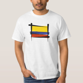 Bandera del cepillo de Colombia Playeras