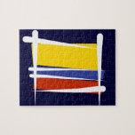 Bandera del cepillo de Colombia Rompecabeza