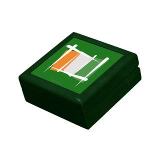 Bandera del cepillo de Costa de Marfil del d'Ivoir Caja De Joyas