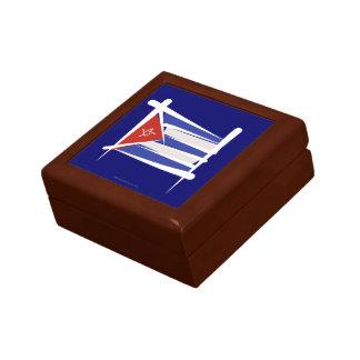 Bandera del cepillo de Cuba Caja De Joyas