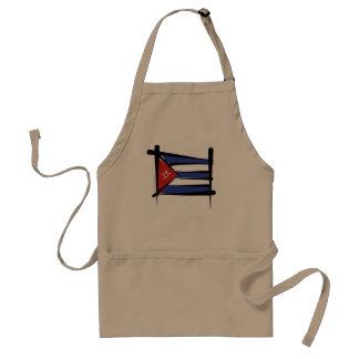 Bandera del cepillo de Cuba Delantales