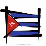 Bandera del cepillo de Cuba Escultura Fotografica