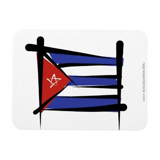 Bandera del cepillo de Cuba Imán Flexible