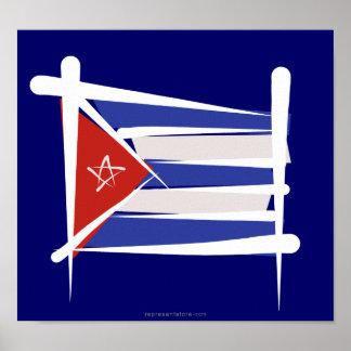 Bandera del cepillo de Cuba Impresiones