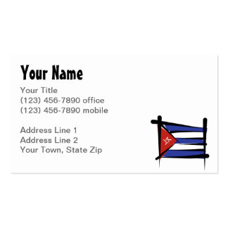 Bandera del cepillo de Cuba Tarjetas De Visita
