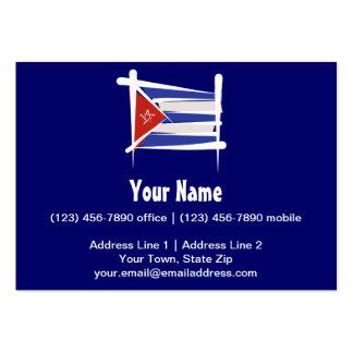 Bandera del cepillo de Cuba Tarjetas De Visita Grandes