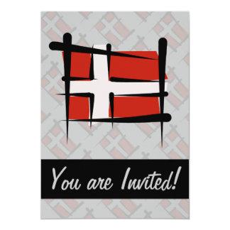 """Bandera del cepillo de Dinamarca Invitación 5"""" X 7"""""""