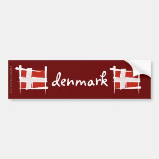 Bandera del cepillo de Dinamarca Pegatina Para Auto