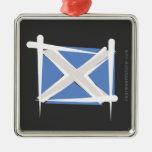 Bandera del cepillo de Escocia Ornaments Para Arbol De Navidad