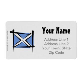 Bandera del cepillo de Escocia Etiquetas De Envío