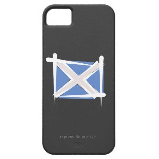 Bandera del cepillo de Escocia iPhone 5 Case-Mate Coberturas
