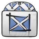 Bandera del cepillo de Escocia Fundas Macbook Pro