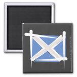 Bandera del cepillo de Escocia Imanes Para Frigoríficos