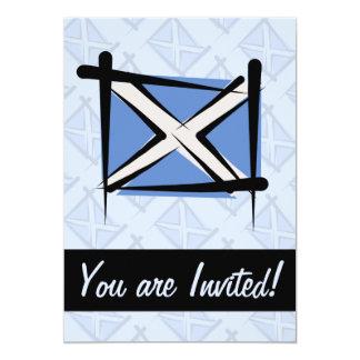 """Bandera del cepillo de Escocia Invitación 5"""" X 7"""""""