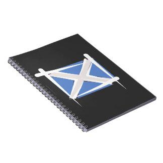Bandera del cepillo de Escocia Libro De Apuntes