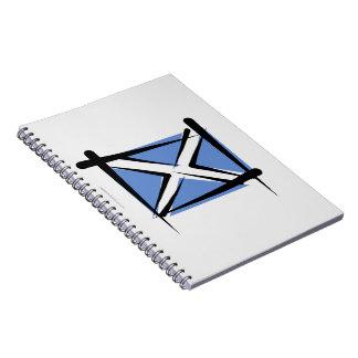 Bandera del cepillo de Escocia Cuaderno