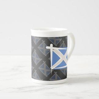 Bandera del cepillo de Escocia Taza De Porcelana