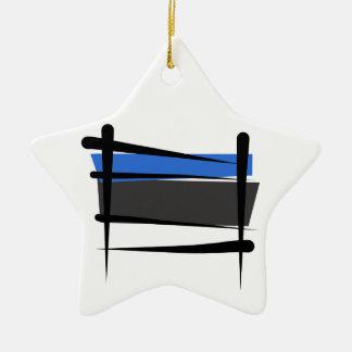 Bandera del cepillo de Estonia Adorno Navideño De Cerámica En Forma De Estrella