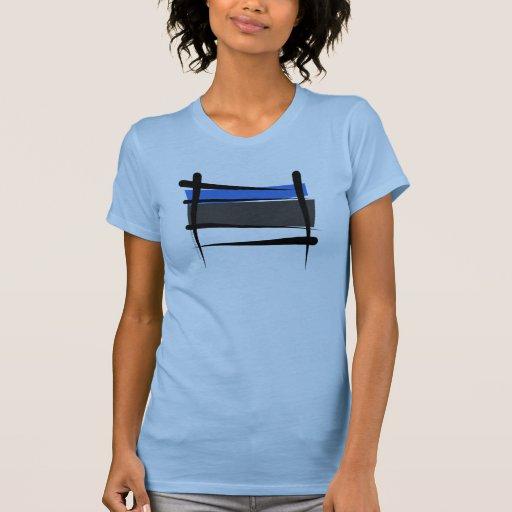 Bandera del cepillo de Estonia Camiseta