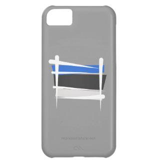 Bandera del cepillo de Estonia Funda Para iPhone 5C