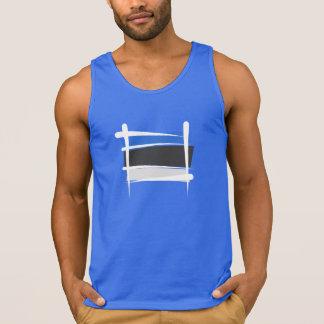 Bandera del cepillo de Estonia Camisetas