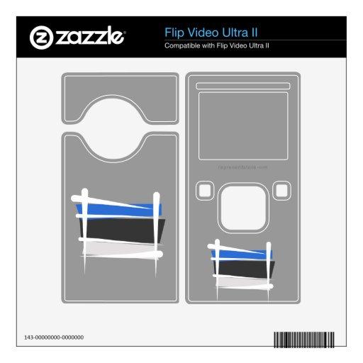 Bandera del cepillo de Estonia Flip Video Ultra II Skin