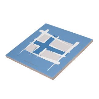 Bandera del cepillo de Finlandia Azulejo Ceramica