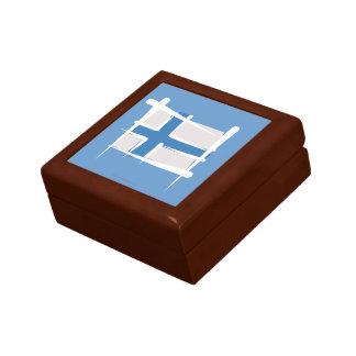 Bandera del cepillo de Finlandia Caja De Regalo
