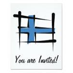 Bandera del cepillo de Finlandia Invitación 10,8 X 13,9 Cm