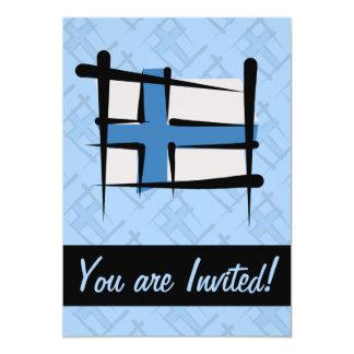 """Bandera del cepillo de Finlandia Invitación 5"""" X 7"""""""