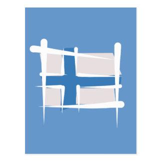 Bandera del cepillo de Finlandia Postales
