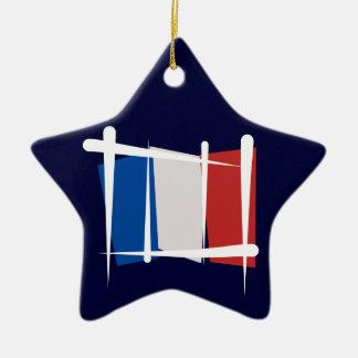 Bandera del cepillo de Francia Adorno De Cerámica En Forma De Estrella