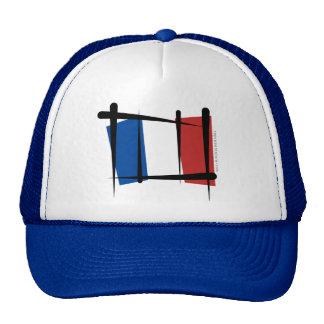 Bandera del cepillo de Francia Gorros