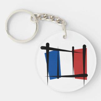 Bandera del cepillo de Francia Llaveros
