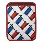 Bandera del cepillo de Francia Mangas De iPad
