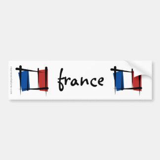 Bandera del cepillo de Francia Pegatina Para Auto