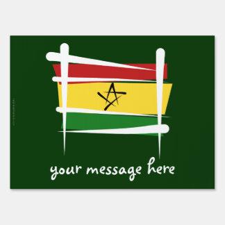 Bandera del cepillo de Ghana Cartel