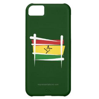Bandera del cepillo de Ghana Funda Para iPhone 5C