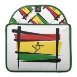 Bandera del cepillo de Ghana Fundas Para Macbooks