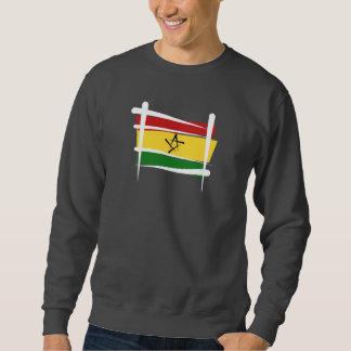 Bandera del cepillo de Ghana Sudadera