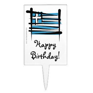 Bandera del cepillo de Grecia Decoraciones De Tartas