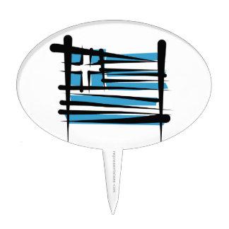 Bandera del cepillo de Grecia Decoración De Tarta