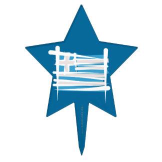 Bandera del cepillo de Grecia Figuras Para Tartas