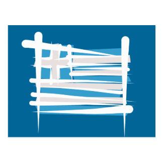 Bandera del cepillo de Grecia Postal